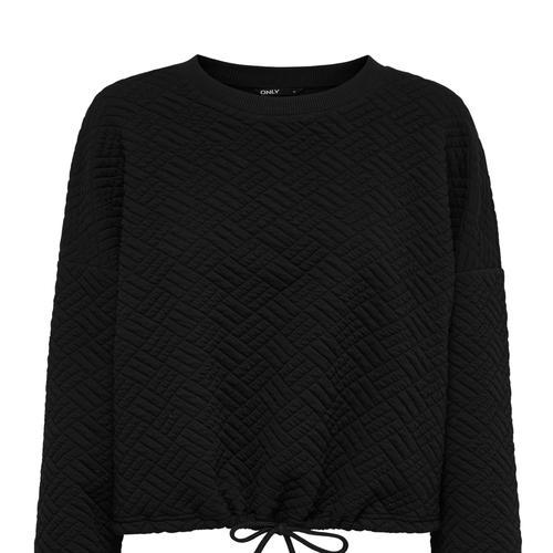 ONLY Denız Square Kadın Siyah Sweatshirt (15249429-B)