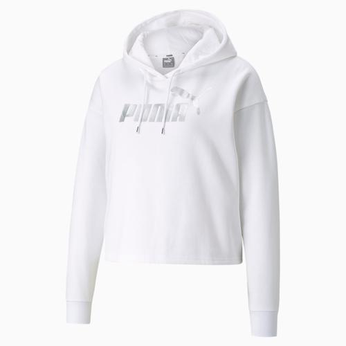 Puma Essentials Cropped Metallic Kadın Beyaz Sweatshirt (586891-02)