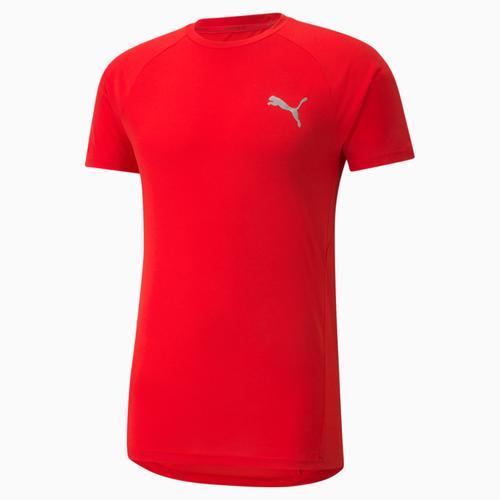 Puma Evostripe Tee Erkek Kırmızı Tişört (589417-11)