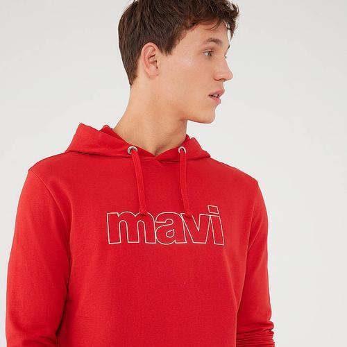 Mavi Jeans Logo Erkek Kırmızı Sweatshirt (065606-34535)