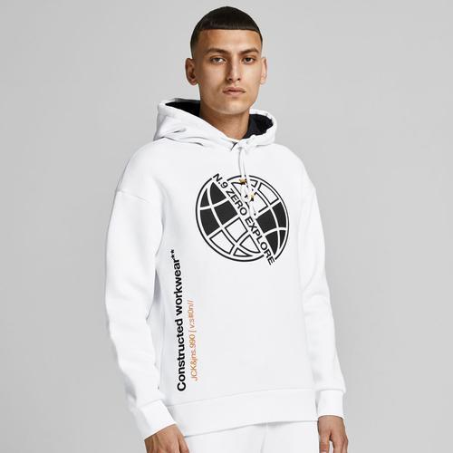 Jack & Jones Poul Erkek Beyaz Sweatshirt (12194399-W)
