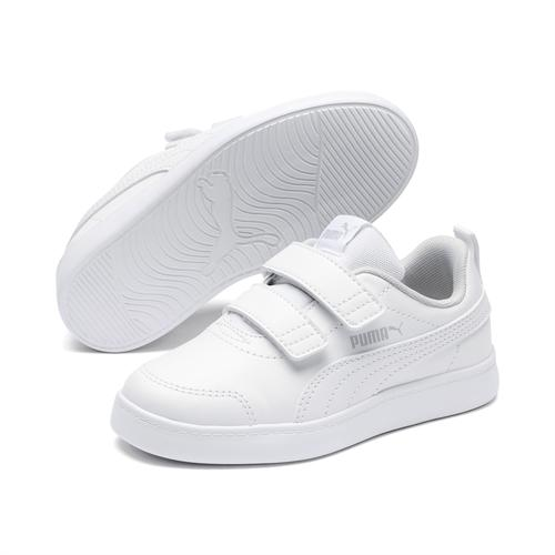Puma Courtflex V2 Çocuk Beyaz Spor Ayakkabı (371543-04)